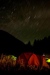 Nemo tents at night, Sun Valley, PressCamp09 | by carltonreid