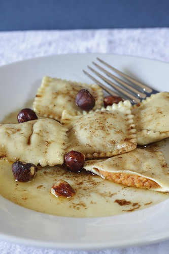 Sweet Potato Ravioli with Spiced Brown Butter | by Madison Bistro