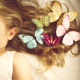 She wore butterflies in her hair | by SusannahT