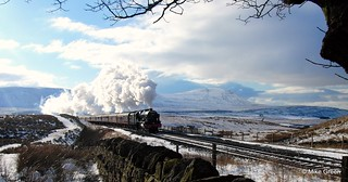 Steam train crossing Ribblehead viaduct | by Mike.D.Green