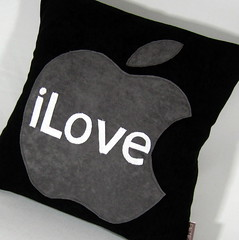 I Love Apple Pillow Just for MAC Lovers | by VaDaVelle