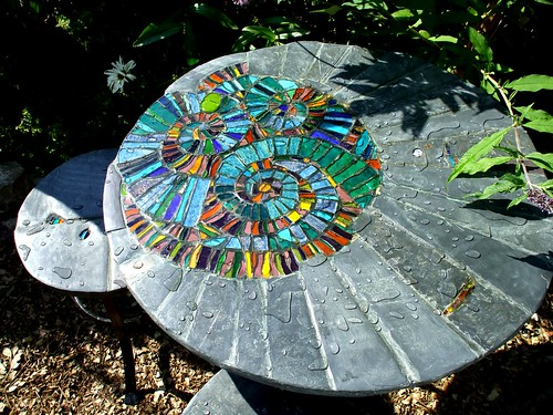 Ammonite garden/patio set | by Helen Nock (www.helen-nock.co.uk)