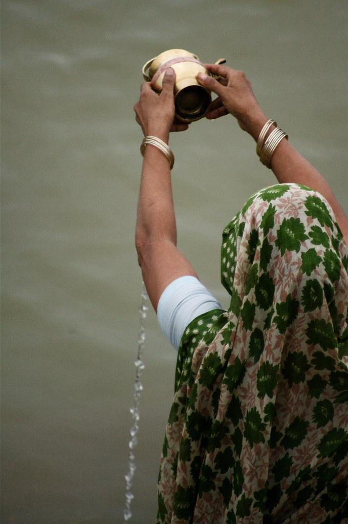 Dawn Rituals At The Ganga River, India