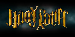 """Harry Potter"", rotational ambigram 