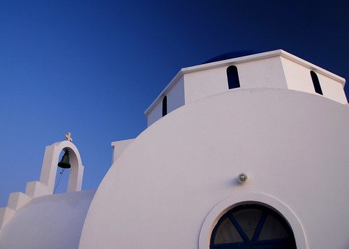 Greek church against a Greek blue sky. | by gardinergirl