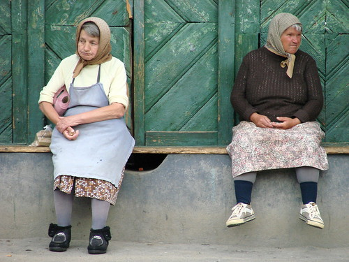 Elderly Women on Street Corner - Biertan - Romania | by Adam Jones, Ph.D. - Global Photo Archive