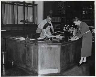 Photograph of Desk Constructed in Shop of National Archives by C. Getts, 1950 | by The U.S. National Archives
