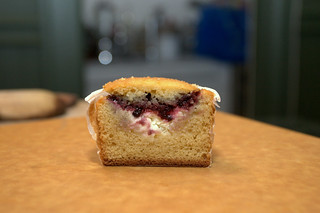 blackberry jam and cream filled cross section | by chockylit