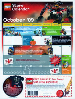 LEGO Store Calendar October '09 - front | by TooMuchDew