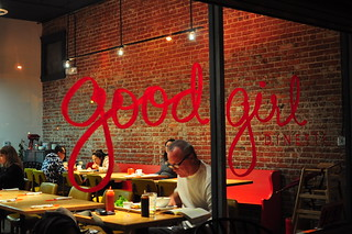 GOOD GIRL DINETTE SIGNAGE | by Cathy Chaplin | GastronomyBlog.com
