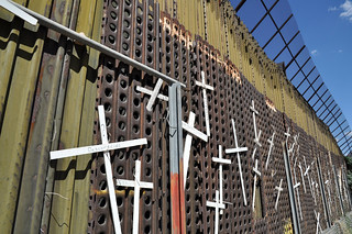 Wall of Crosses in Nogales | by jonathan mcintosh