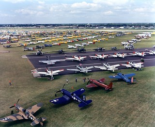 Warbirds line at Oshkosh '87 | by Ted & John Koston
