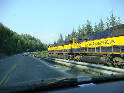 The Alaska Railroad....probably still searching for that missing train car parked at Dorene's place. | by geefour907