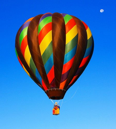 Fly Me to the Moon, by way of a Hot Air Balloon | by Beverly & Pack