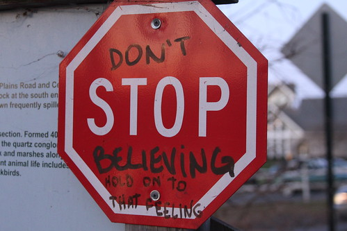 don't stop believing. | by michelle@TNS