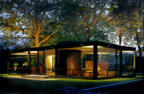 Glass House, dusk - Philip Johnson arch. | by x-ray delta one