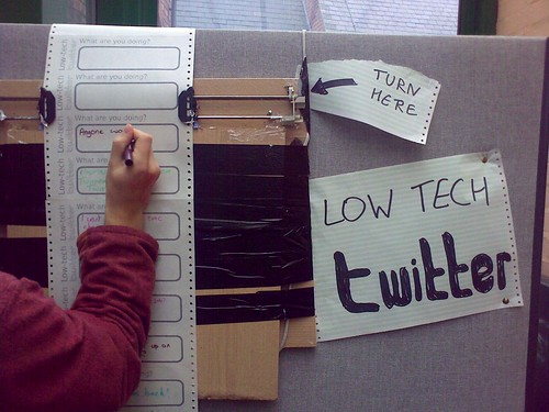 Low-tech Twitter | by graphiclunarkid