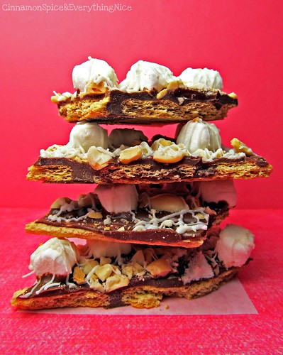 Rocky Road Graham Cracker Candy Bark | by CinnamonKitchn