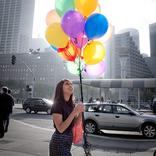 Balloons at the SF Ferry Building | by kowitz