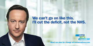 "Poster - ""Cut the deficit, not the NHS"" 