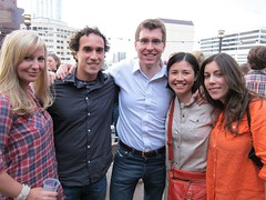 Me, Ben, Owen, Crystal & Liane at the Livestrong/Lowercase Capital event | by Aubs