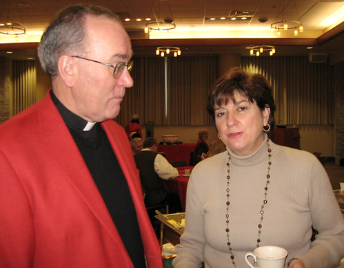 Father Steve and Coach B at Christmas Open House | by seattleu