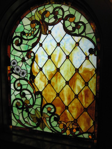 BEAUTIFUL STAINED GLASS AT WINCHEST MYSTERY HOUSE Chase