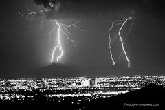 Thunderstorm Phoenix Arizona BW | by Striking Photography by Bo Insogna