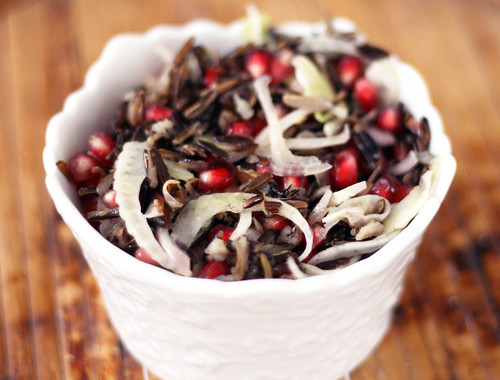 pomegranate wild rice salad | by rachel is coconut&lime