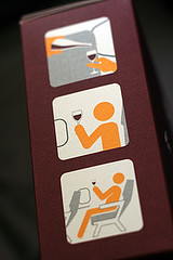 in flight wine tasting instructions | by David Lebovitz