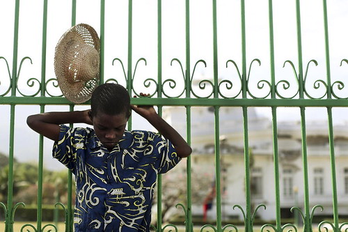 Boy Silently Prays on One-Month Anniversary of Haiti Quake | by United Nations Photo