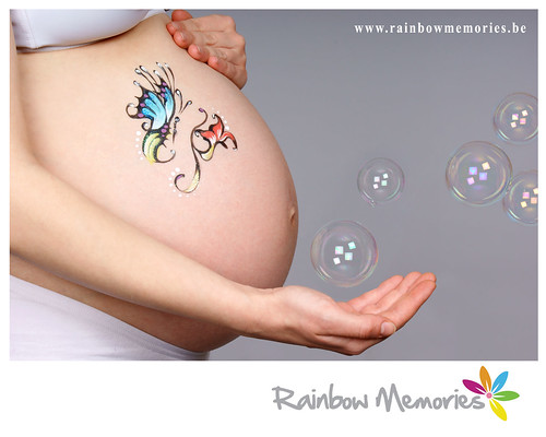photo de grossesse belly painting rainbow memories photo flickr. Black Bedroom Furniture Sets. Home Design Ideas