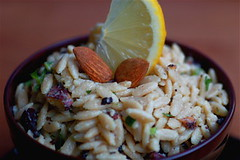 cilantro lemon orzo and toasted almonds | by sweetbeetandgreenbean