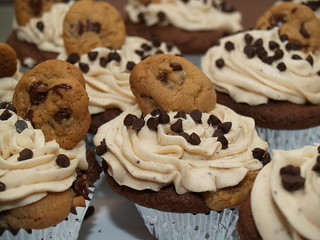 Chocolate Chip Cookie Dough Cupcakes | by Sweet Cup 'N Cakes