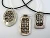 Three Woven Silver Pendants (Class Samples)