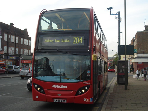 Metroline TE988 on Route 204, Burnt Oak