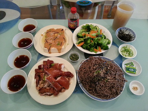 Soy chicken AUD12 half from Pacific BBQ Cafe, cold soba wi ...