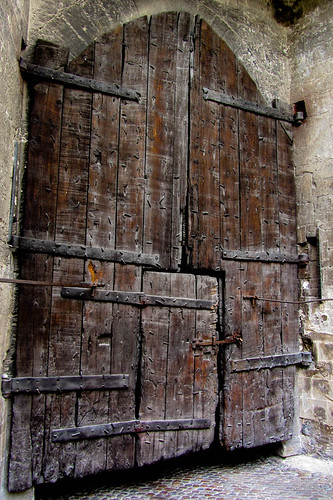 Great Old Door From Nice To Lyon With A Stop At Avignon