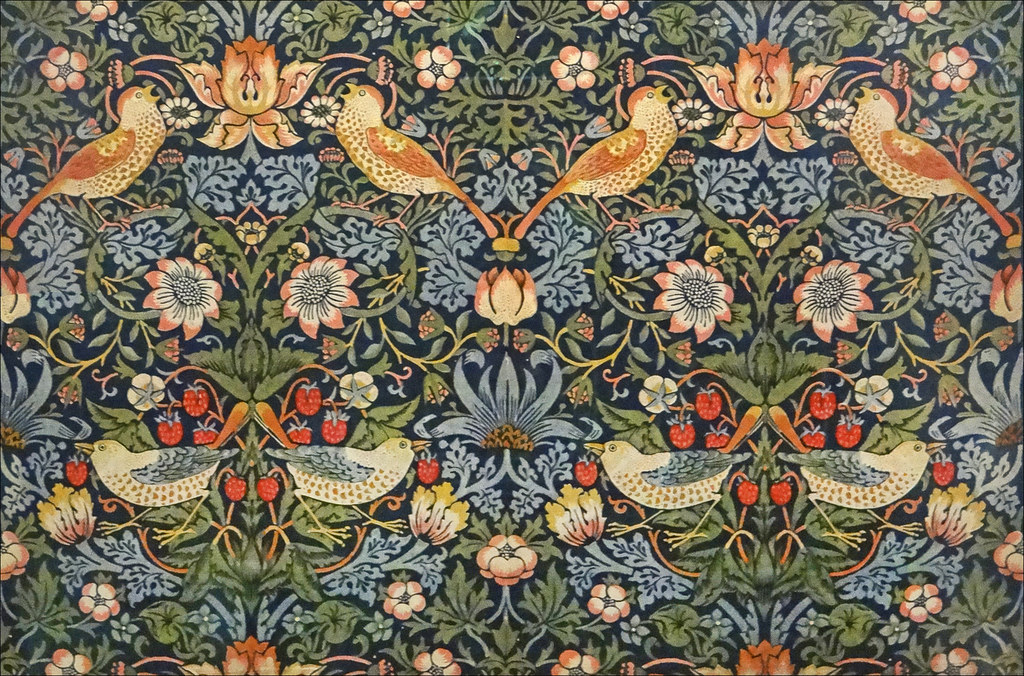 Tissu d'ameublement De William Morris au V&A. Photo de Jean Pierre Dalbéra.