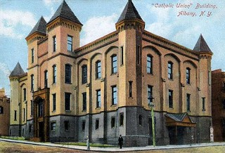 Catholic Union Building c 1900 Howard st and eagle st Demolished for the South Mall Albany ny