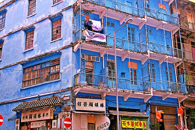 Wan Chai Blue House, Hong Kong. Image: MrT HK, CC
