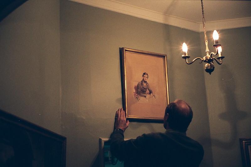 E2_James Hervey Bathurst with portrait of Arthur Herbert Somers Cocks at Eastnor Castle