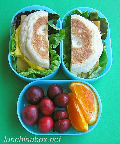 Egg muffin sandwich bento lunch for preschooler | by Biggie*