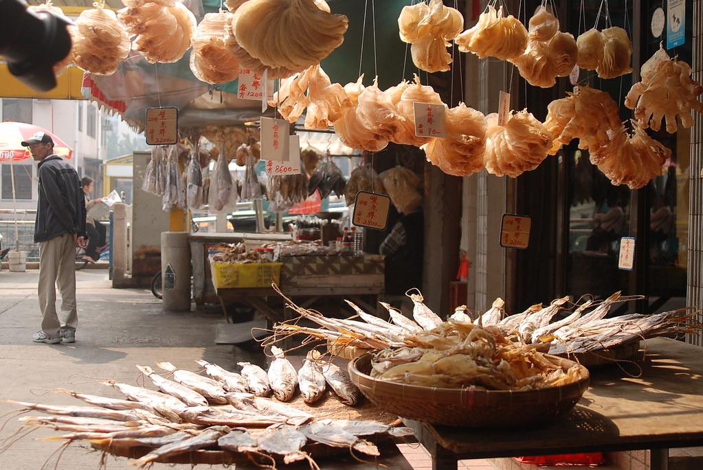 Dried salted fish and seafood