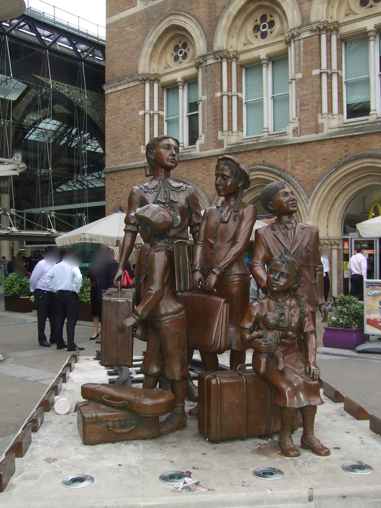 Statue of The Railway Children outside London's Liverpool Street station. Image by Iain Mullan via Flickr.