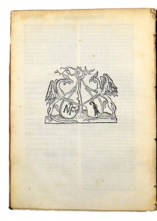 Printer's device in Orbellis, Nicolaus de: Summula philosophica rationalis | by University of Glasgow Library