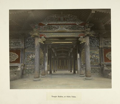 Temple Haiden, at Shiba Tokio | by New York Public Library