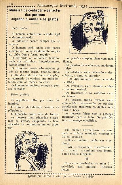 Almanaque Bertrand, 1934 - 54