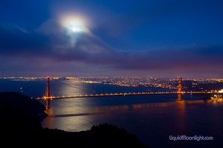Full Moon over the Golden Gate Bridge | by Darvin Atkeson