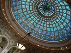 Famous Tiffany Dome at the Cultural Center | by Rozanne